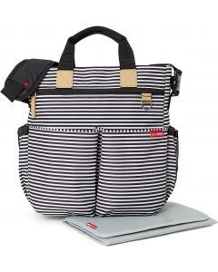 Skiphop Hoitolaukku Duo Signature Stripe, Black stripe