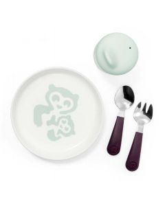 Stokke Munch Ruokailusetti Essentials, Soft Mint