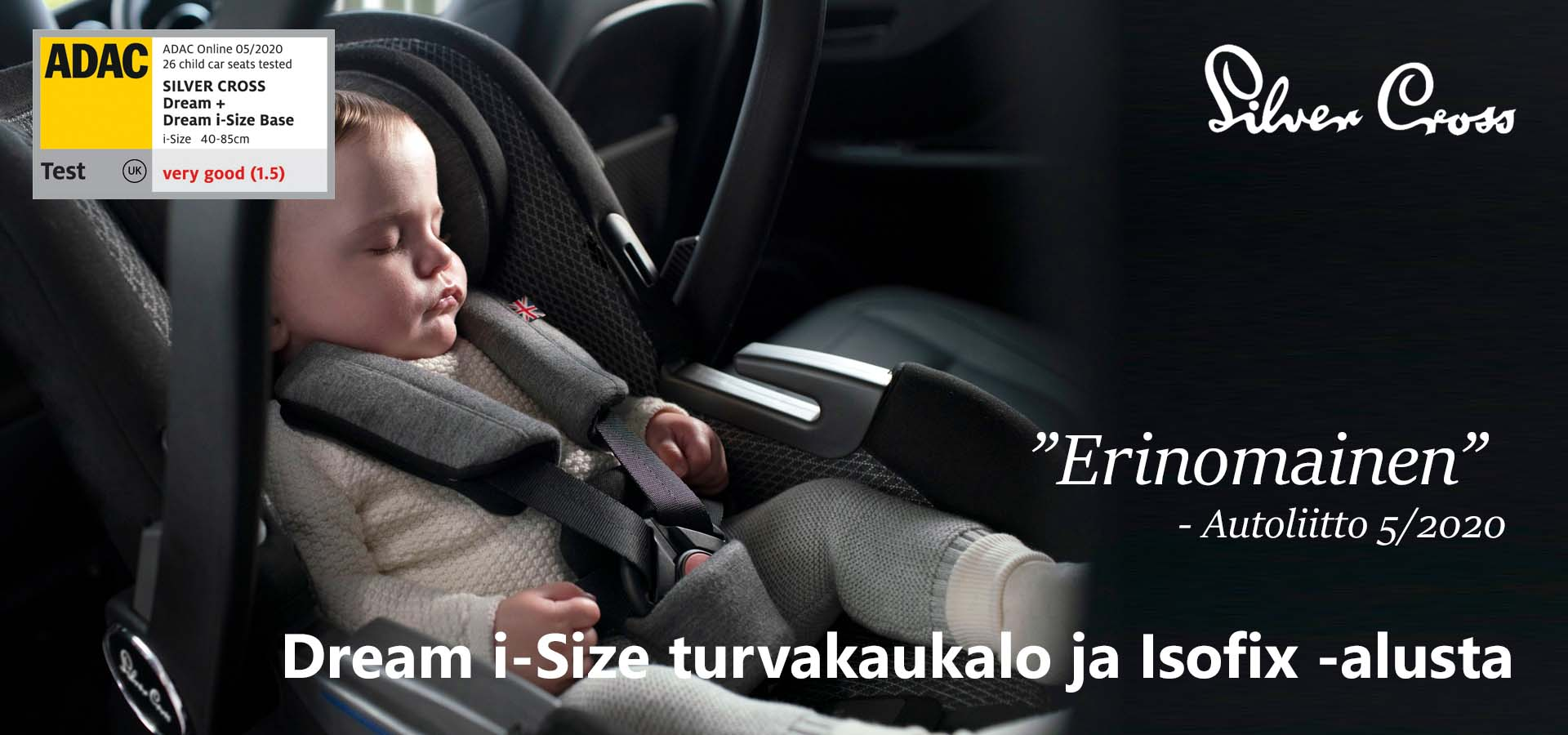 Silver Cross Dream + isofix alusta - Vaunu-aitta